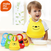 New Design Baby Bibs Waterproof Silicone Feeding Baby Saliva Towel Newborn Cartoon Waterproof Aprons Baby Bibs