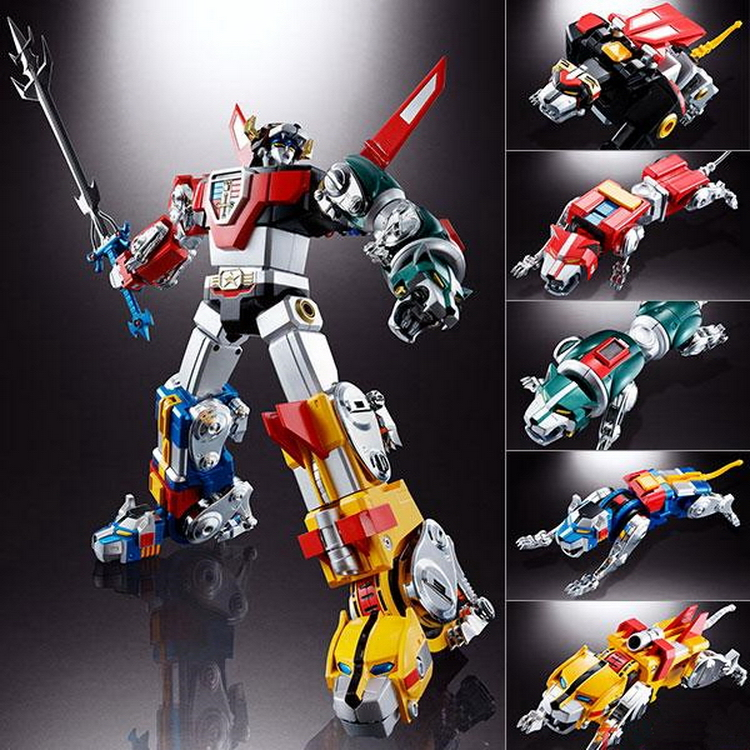 Fantasy Jewel Beast King GoLion Black Green Yellow Red Blue lion Voltron Defender of