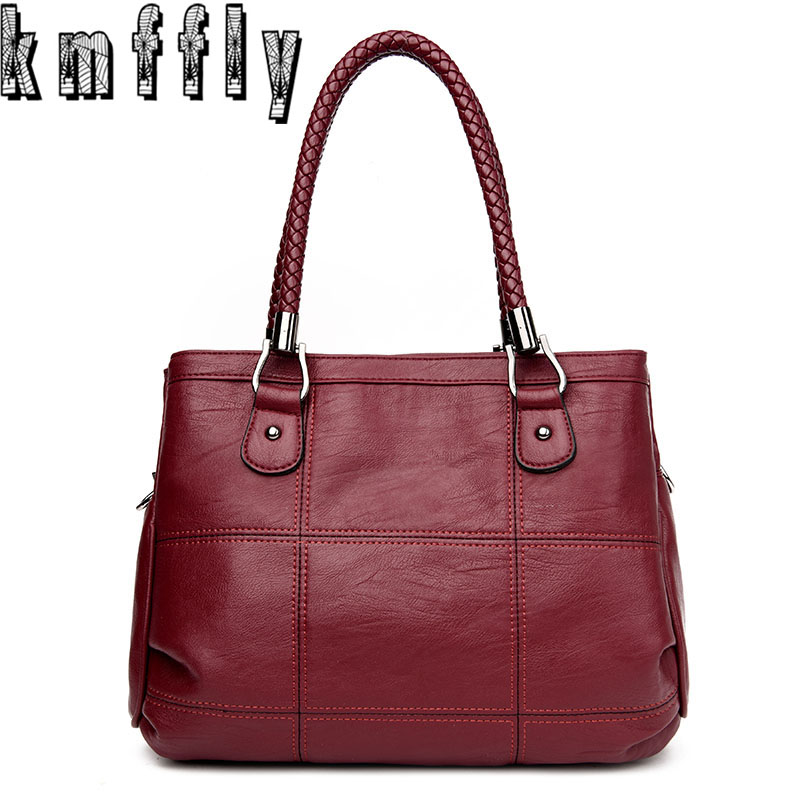 KMFFLY Luxury Handbags Women Bags Designer PU Leather Fashion Shoulder Bag Sac a Main Marque Bolsas Ladies Casual Tote Handbags luxury handbags women bags designer brands women shoulder bag fashion vintage leather handbag sac a main femme de marque a0296
