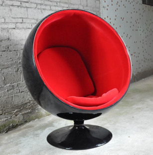 Stylish Glass And Steel Space Egg Chair Bubble Chair Recliner Chair