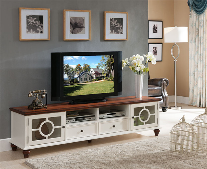 Tv Stand Living Room Center Table Modern Cabinet Lift White Wooden Stands Furniture