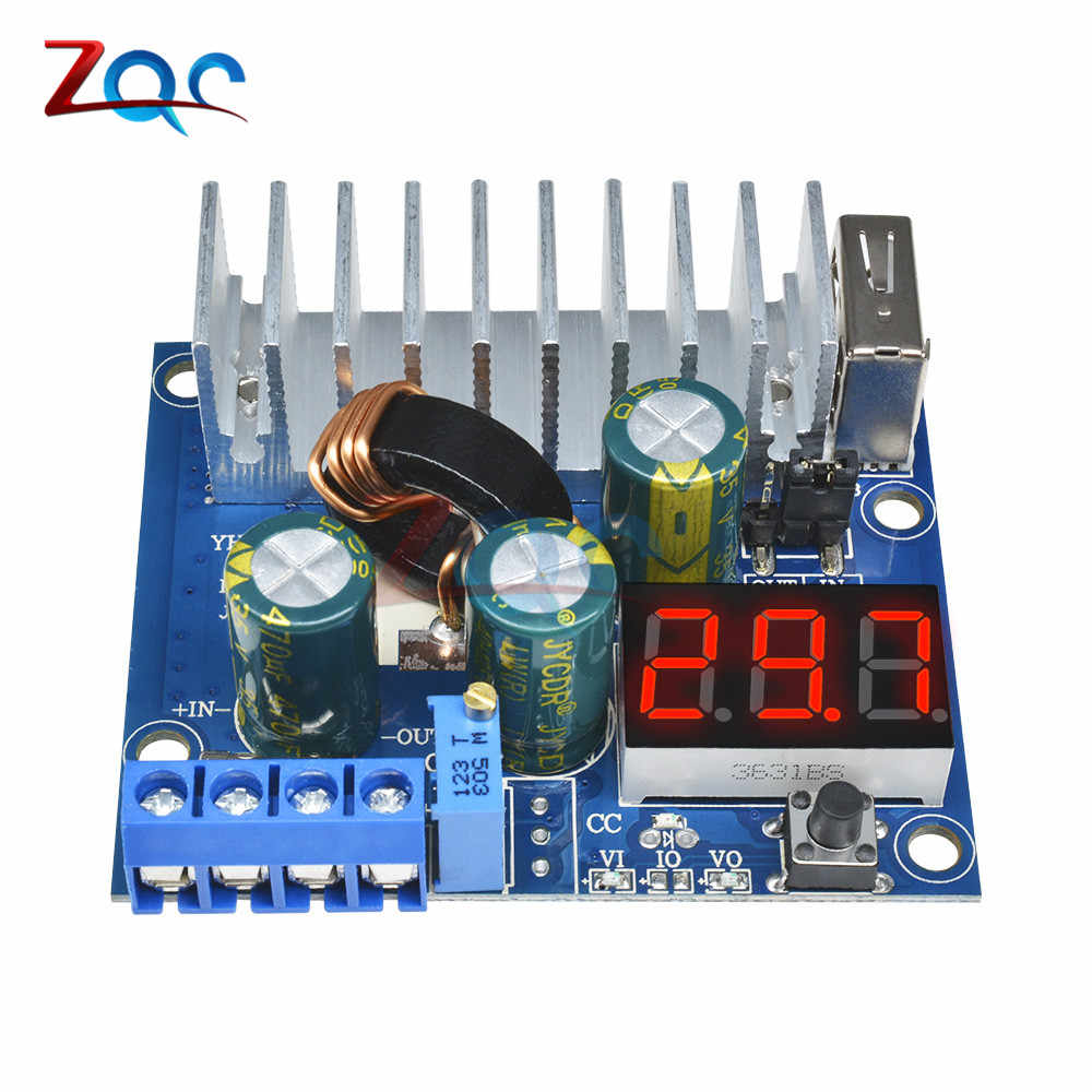 Dc Naar Dc 3-35V Boost Step Up Module 100W 6A Usb Voeding Led Voltmeter DC-DC converter Voeding Module Voltage Regulator