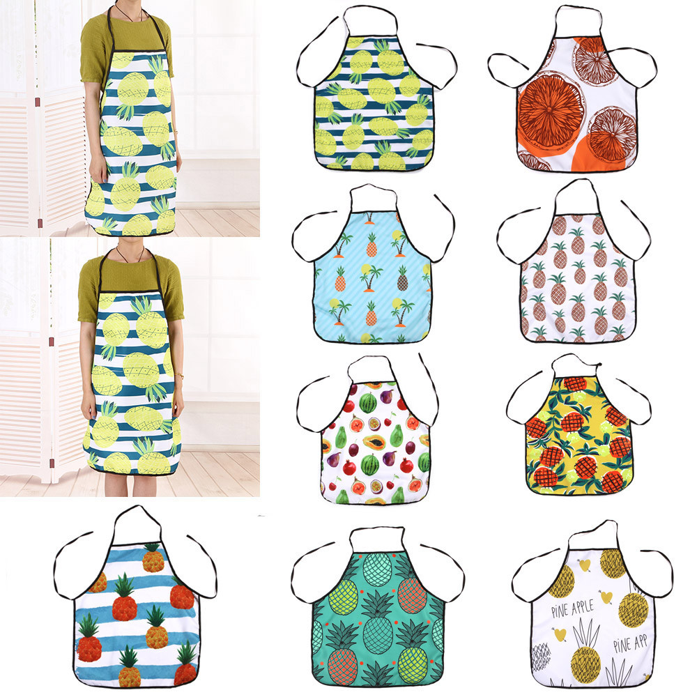 Fruit Waterproof Apron Kitchen Restaurant Bib Apron Dress Kitchen Restaurant Cooking Bib Aprons Monther Gift