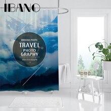 цена на IBANO Aesthetic Art Landscape Shower Curtain Waterproof Polyester Fabric Bath Curtain For The Bathroom Curtain Decoration