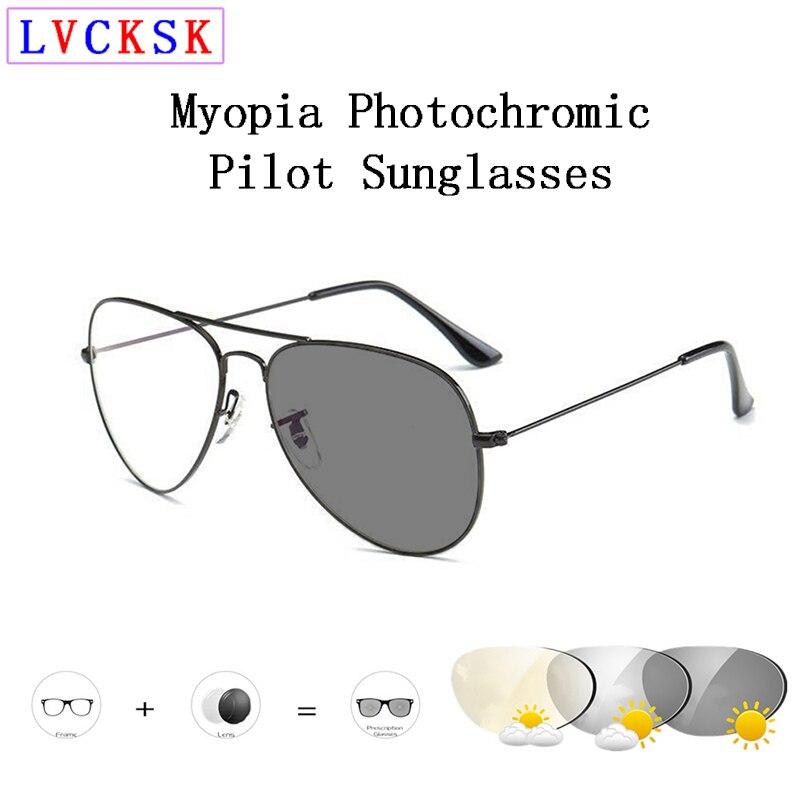 Piloto inteligente photochromic miopia óculos de sol masculino feminino óculos de visão curta miopia-1.0 a-6.0 a3