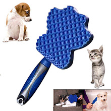 2019 New 3-in-1 pet silicone brush to the bath