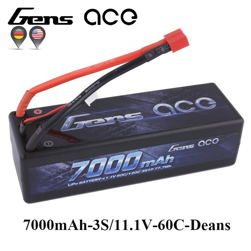Gens ace Lipo Battery 11.1V 7000mAh Lipo 3S Battery Pack 60C-120C Deans Plug Reliable Power for 1/8 1/10 Car Traxxas Slash cambridge advanced learner s dictionary