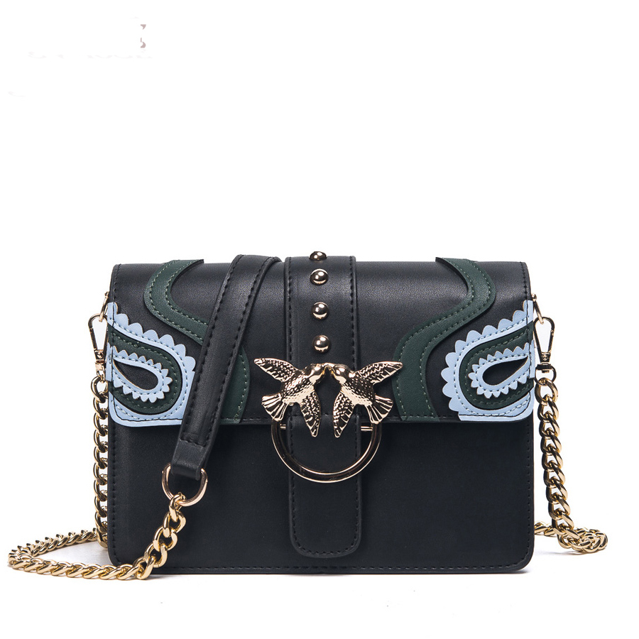 2018 Female Brand Hand Bag Woman Messenger Bags Lady Rivet chain Women Fashion Leather Shoulder Bag Girl Crossbody Bags