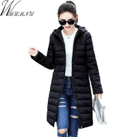 Wmwmnu 2017 Winter Autumn Long Cotton Women S Coats With Hood Fashion Ladies Cotton Padded Slim