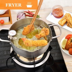 Stainless Steel Oil Fryer With A Thermometer Household Appliances In The Kitchen Peanut Oil Press Oil Press For Oil Extraction