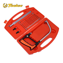 цена на 11 In 1 Saw Hand DIY Saw Multifunction Hand Saws Cutting Metal Wood Glass Plastic Rubber 9 Blades With Box