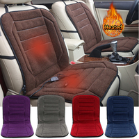 Autumn Winter Warm 12V Car Heated Seat Cushion Cover Case Degree Temperature Adjustable Heater Auto Driver Warmer Support Pad