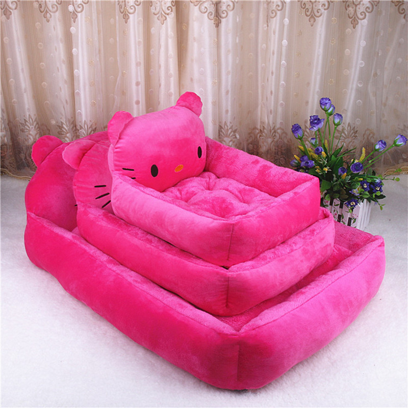 PP Cotton Kennels Cat House Dog Pad Teddy Mats Big Blanket Supplies Cute Pet Dog Bed Mats Animal Cartoon Shaped Pet Sofa Kennels 12
