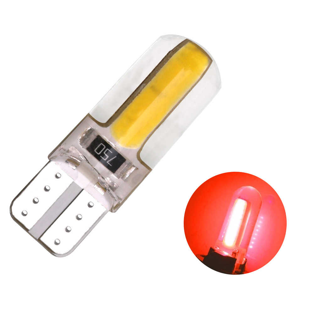 1PC T10  COB LED Bulbs Silicone Shell Auto Wedge Parking Light Super Bright Silica Gel Signal Light Drop Shipping