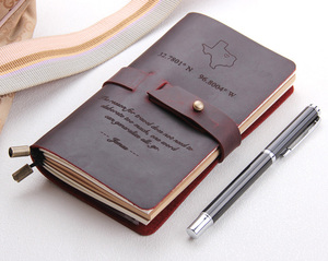 Image 1 - Skórzany dziennik, wykonane na zamówienie, rocznika wielokrotnego napełniania dziennik podróży, skóra notebooka podróżnika