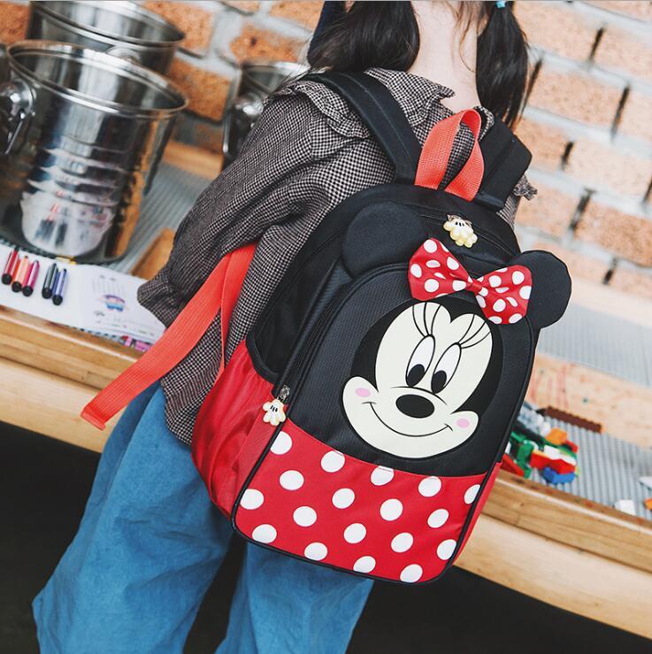 Waterproof Child School Bag Cartoon mickey backpacks/kids kindergarten backpack/kid school bags/Satchel for boys and girls gifts