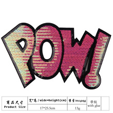 embroidery sequins letters patches for jackets,letters badges jeans,sequined appliques clothing A242