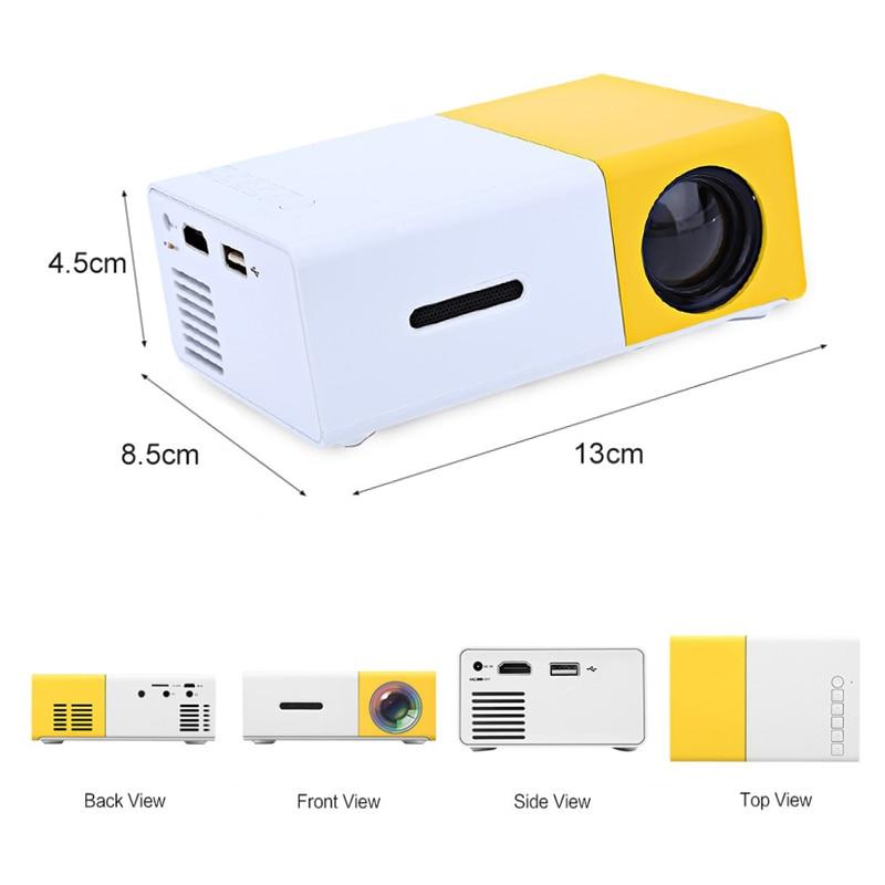 Salange YG300 projecteur LED 600 lumen 3.5mm Audio 320x240 Pixels YG-300 HDMI USB Mini projecteur maison lecteur multimédia - 3