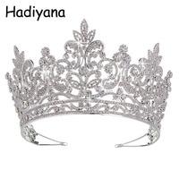 Hadiyana Luxury Bridal Tiara Big Queen Crown Wedding Hair Accessories Diadem Headband Pageant Ornaments Headdress Crowns HG6039