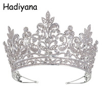 Hadiyana Luxury Bridal Tiara Big Queen Crown Wedding Hair Accessories Diadem Headband Pageant Ornaments Headdress Crowns HG6039