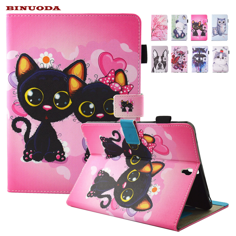 For Coque Samsung Galaxy Tab S3 9.7 T820 SM-T825 Case Cute Cat Printed Folio Flip PU Leather Kickstand Tablet Kids Case Cover albert et folio halte aux voleurs cd audio mp3