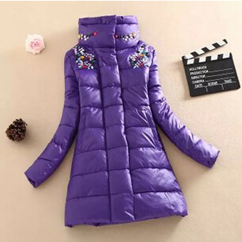 wholesale winter women jacket winter diamond cotton-padded women clothing parka overcoat winter coat Plus size Outwear DL1386