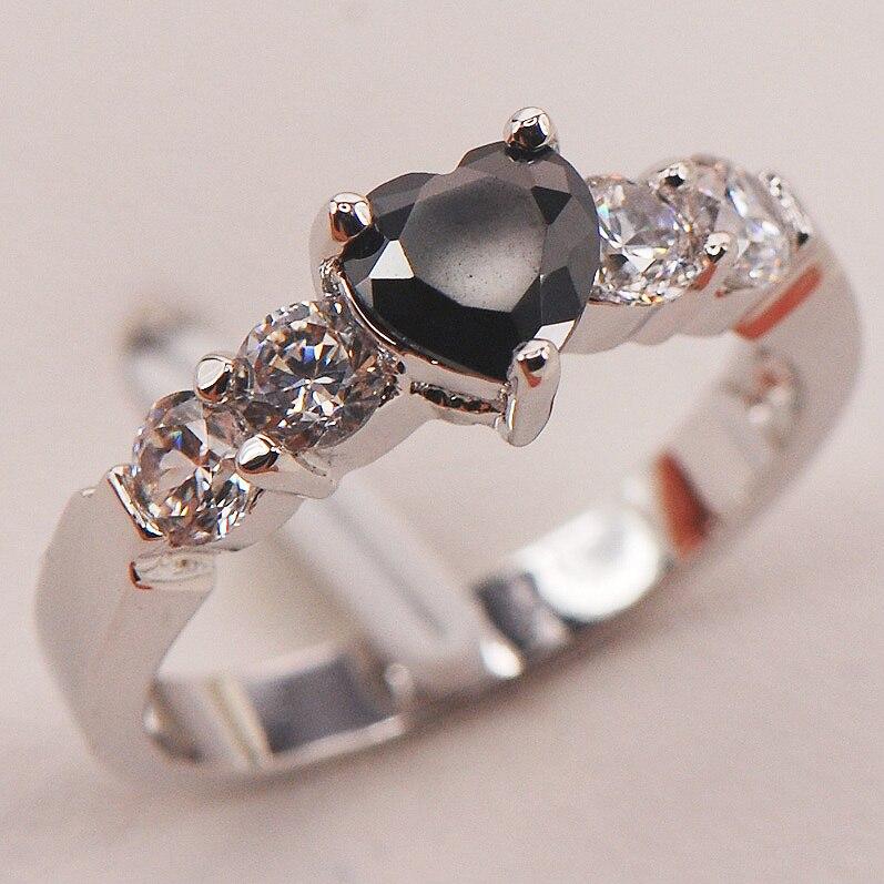 Black Onyx Fashion 925 Sterling Silver Ring Size 5 6 7 8 9 F668 Fashion Wholesale Jewelry Free Shipping