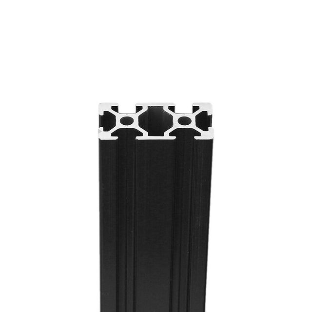 1 pc Comprimento 450mm Anodizado Preto 2040 T-Slot Quadro de Extrusão de Perfis De Alumínio Para CNC
