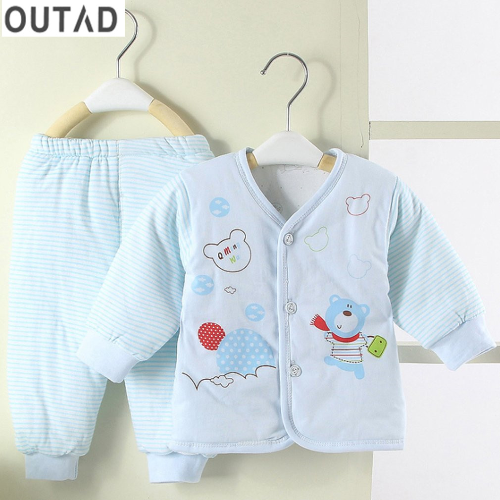 2017 Winter Baby Clothing Sets Newborn tracksuit kids Girls Boys clothes sets 2ps Infants Underwear Set Baby Suits For 0-12 M