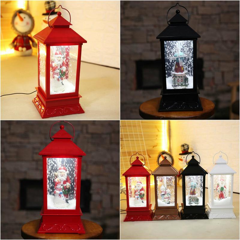 Новогоднее светодио дный ное рождественское освещение Снежный шар музыкальная шкатулка веселое Рождественское украшение для дома на откр...