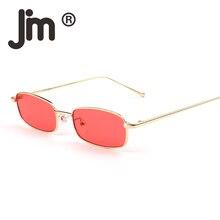 JM Wholesale 10pcs/lot Small Slim Clear Lens Tinted Sunglasses Women Brand Designer Retro Slender Rectangular Sun Glasses