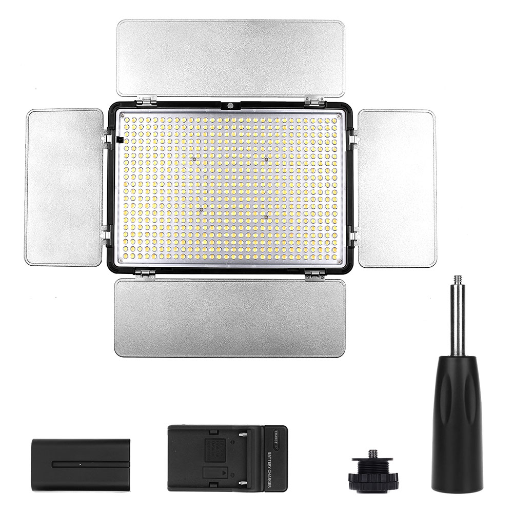 Travor 600pcs Bi-Color Led Video Light 3200K ~ 5500K with IR - კამერა და ფოტო - ფოტო 6