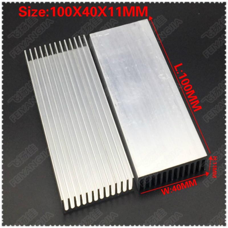 купить (Free shipping )2pcs 100x40x11mm Aluminum heatsinks, electronic radiator, cooling the aluminum block по цене 400.51 рублей