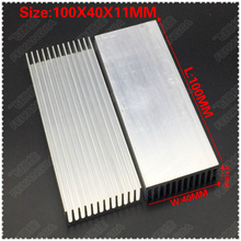 (Free shipping )2pcs  100x40x11mm Aluminum heatsinks, electronic radiator, cooling the aluminum block