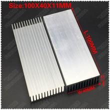 (Free shipping )2pcs  100x40x11mm Aluminum heatsinks, electronic radiator, cooling the aluminum block
