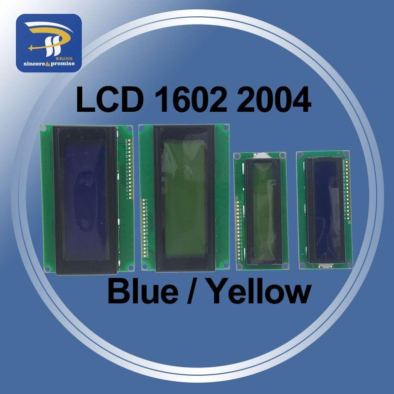 Модуль ЖК-дисплея PCF8574 1602 1602A 2004 2004A 12864 12864B, сине-желто-зеленый экран, IIC I2C 5 В для Arduino