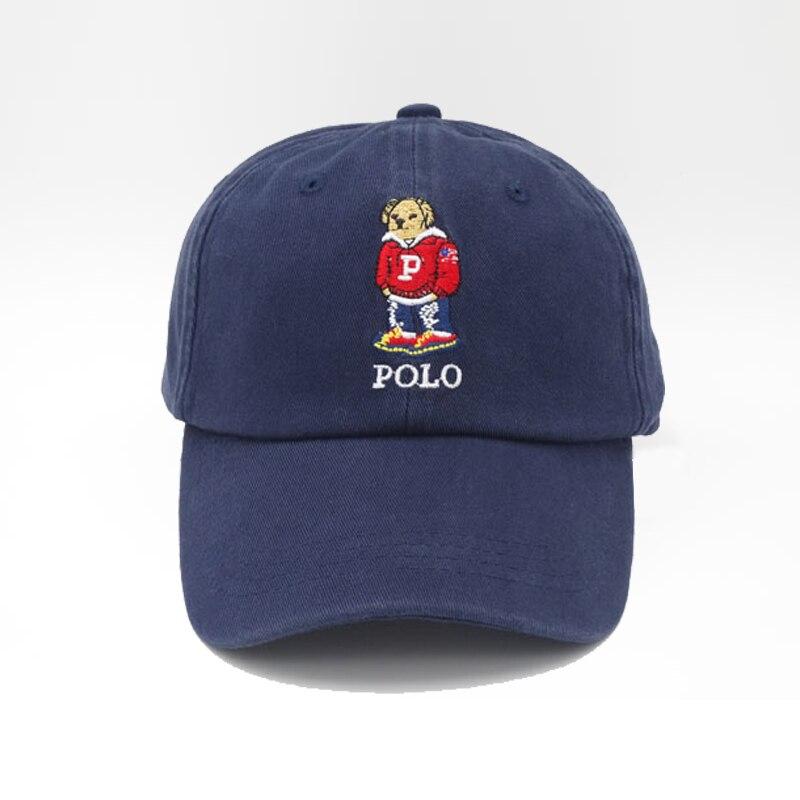 Причинный характер медведь и буквы бейсболки женщины и мужчины вышивка хлопок панк папа шляпы крышки snapback стиль 2016