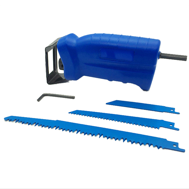 Power Tool Accessories Reciprocating Saw Metal Cutting Wood Cutting Tool Electric Drill Attachment with 3 Blades Trimming Tool 1
