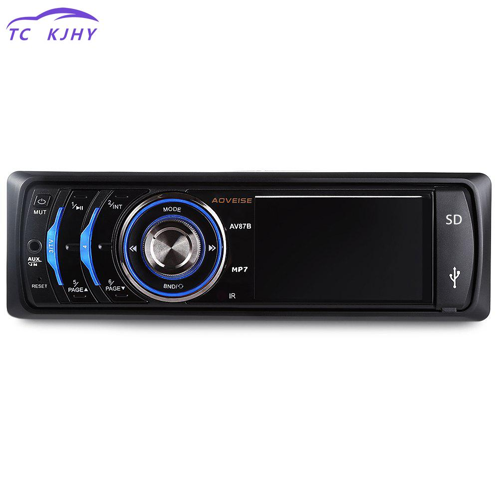 Audio Stereo 3 Inch Tft Screen Radio Player Car Video Player 1 Din 12v Mp3 Radio Usb Sd Mp5 Multimedia Player Fm In-dash image