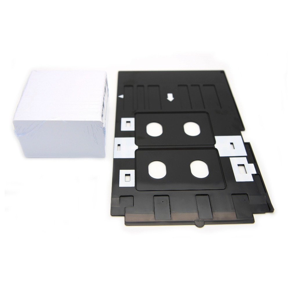 230PCS Inkjet PVC Card ID Card +1PCS Tray for EPSON R200 R210 R220 R230 R300 R310 R320 R350 inkjet printable pvc card tray for r200 r210 r220 r230 r300 r310 r320 r350