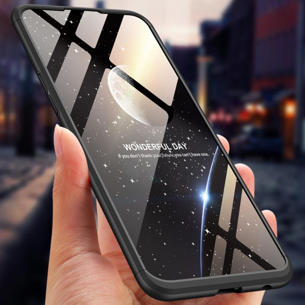 For OPPO A7 Case 360 Degree Full Body Cover oppoa7 Hybrid Shockproof With Tempered Glass Film for
