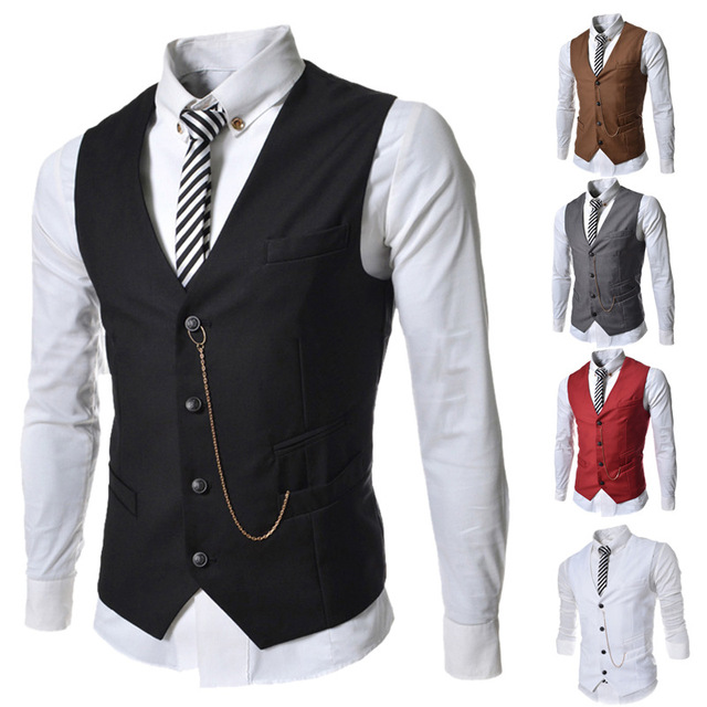 Chegada nova Mens Casual vest Magro Com Decote Em V homens colete de Moda combina com Homem Bonito colete Blazer Colete Slim Fit TVE002 Busness