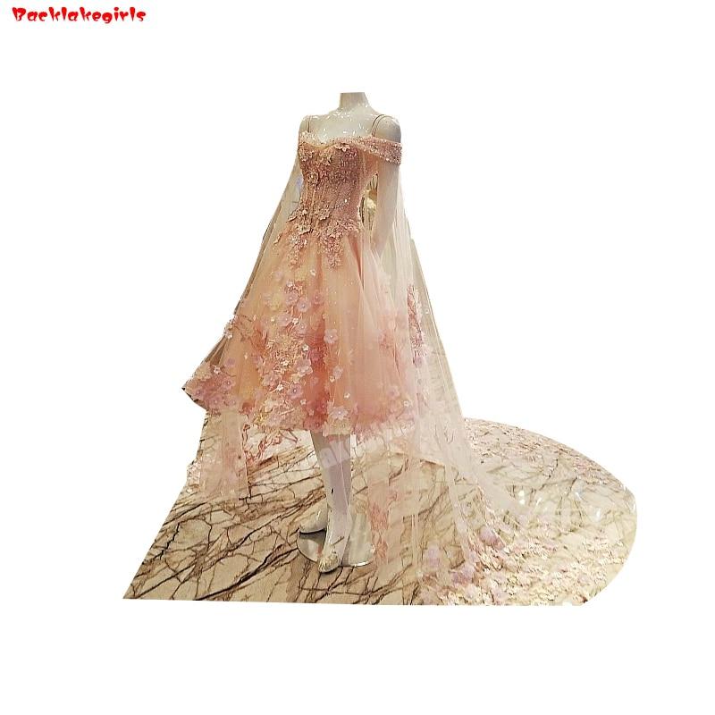 Backlakegirls Vintage Ball Gowns Wedding Dress Summer Lace Flower Bridal Gowms Knee Length Maternity 2018 Hot Salebridal Gowns