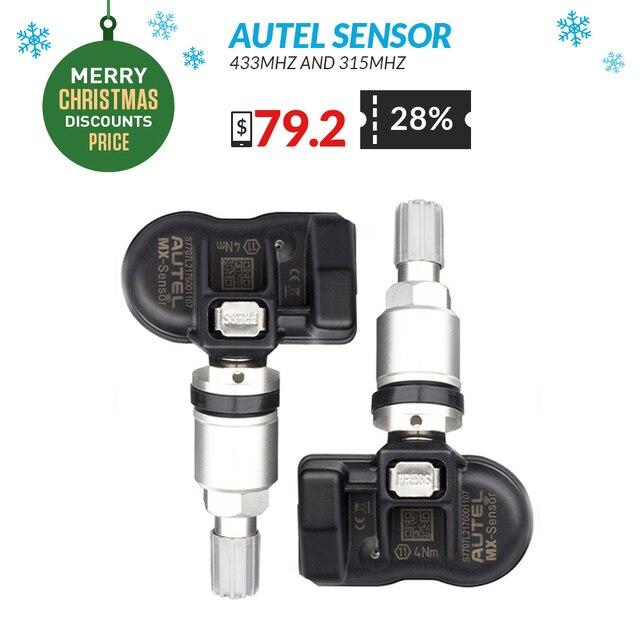 Autel сенсор TPMS 433 мГц 315 мГц 2in1 TPMS сенсор мониторинга давления в шинах 433 мГц сенсор autel PAD беспроводной Программирование инструмент