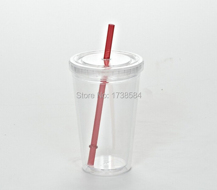 new Popular double layer plastic cup ice cup insert paper with lid
