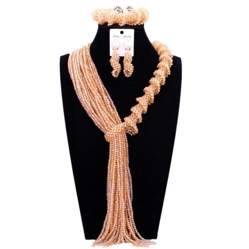 все цены на Nigerian African Wedding beads Set Grey Bold Design Necklace Bracelet Earrings Set of Jewelry For Women Costume Jewellery 2018