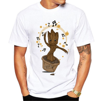 Guardians Of The Galaxy 2 Men T Shirt Anime Baby Pop Groot Summer Funny I AM