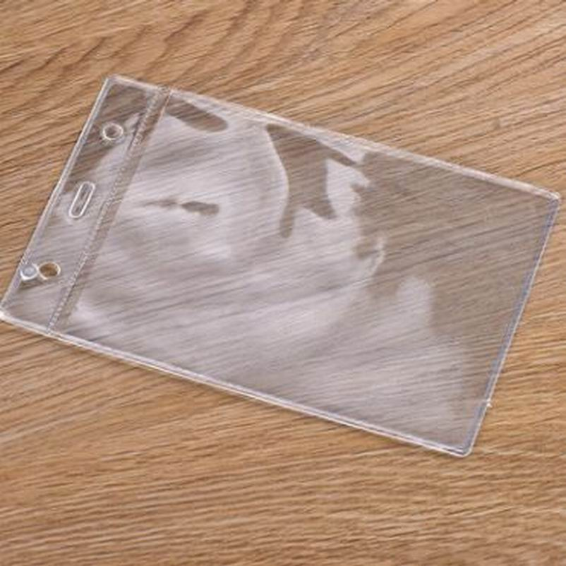 500 pcs Work Clear Soft Name Credit Card Holders Bank Card Card Bus ID holders Identity badge company office supply