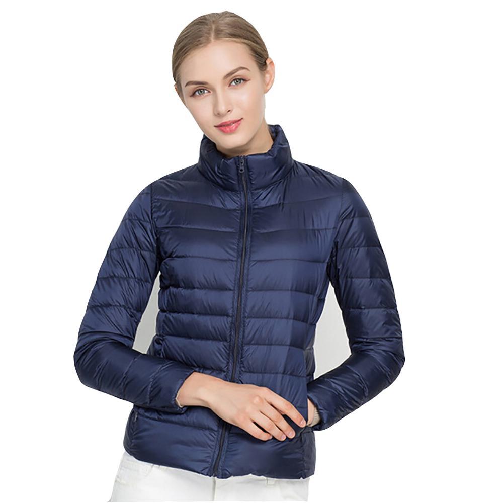 Autumn Winter Jacket Women Outwear Pink Orange Ultra Light Jacket Windproof Warm Jackets Fashion Spring Parkas Plus Size 6XL 7XL in Jackets from Women 39 s Clothing