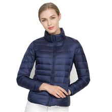 Autumn Winter Jacket Women Outwear Pink Orange Ultra Light Windproof Warm Jackets Fashion Spring Parkas Plus Size 6XL 7XL